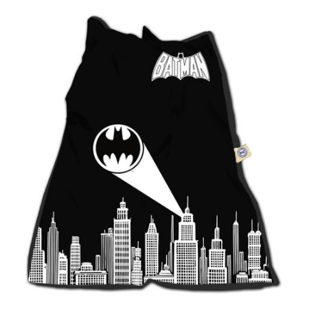 Capa para Almofada Batman Gottam City Sign Preta 115x90cm