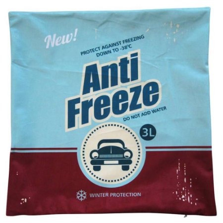 Capa para Almofada Loft Anti Freeze Azul Urban 45x45cm