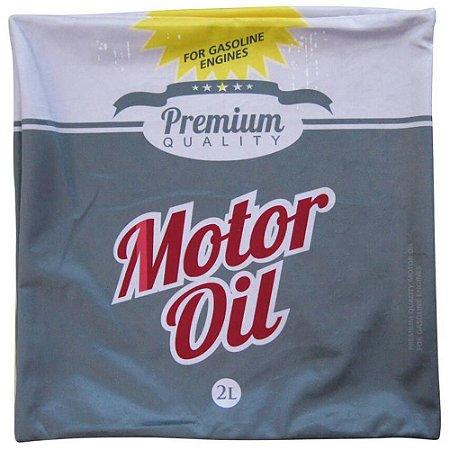 Capa para Almofada Loft Motor Oil Cinza 45x45cm