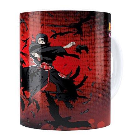 Caneca Naruto Shippuden Itachi v01 Branca