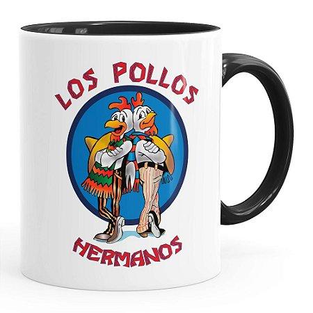 Caneca Breaking Bad Los Pollos Hermanos v01 Preta