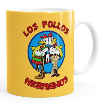 Caneca Breaking Bad Los Pollos Hermanos v02 Branca