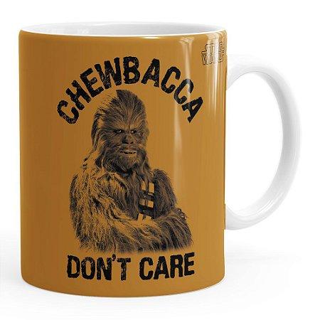 Caneca Star Wars Chewbacca Dont Care v01 Branca