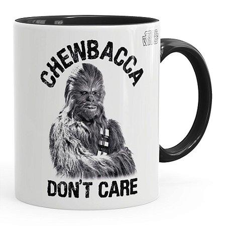 Caneca Star Wars Chewbacca Dont Care v02 Preta