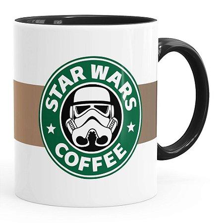 Caneca Star Wars Coffee Preta