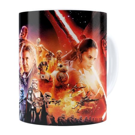 Caneca Star Wars Episódio VII Branca