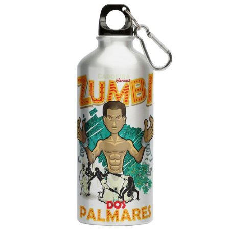 Squeeze Capoeira Zumbi Dos Palmares 500ml Aluminio
