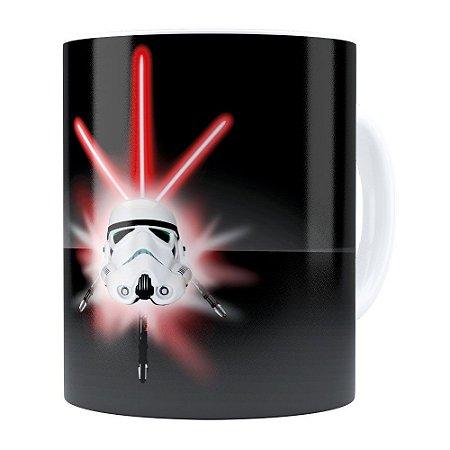 Caneca Star Wars StormTrooper Espadas Branca