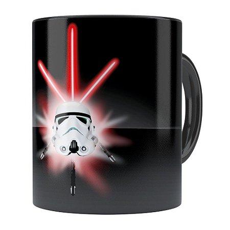 Caneca Star Wars StormTrooper Espadas Preta