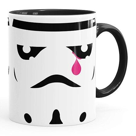 Caneca Star Wars StormTrooper Face Lágrima Preta