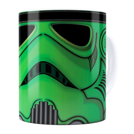Caneca Star Wars StormTrooper Green Branca
