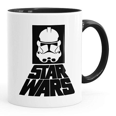 Caneca Star Wars StormTrooper Logo v02 Preta