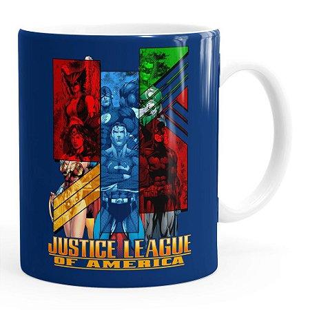 Caneca Liga da Justiça v01 Porcelana Branca