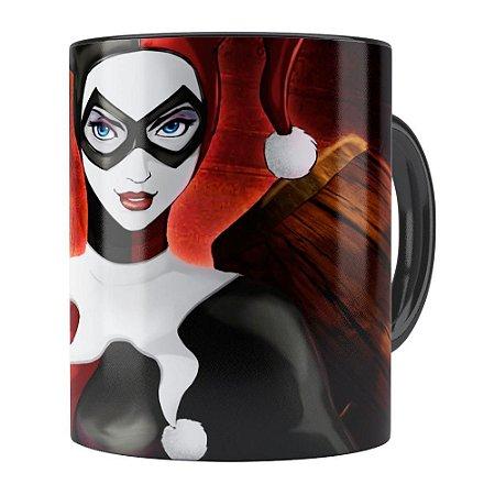 Caneca Arlequina (Harley Quinn) v02 Preta