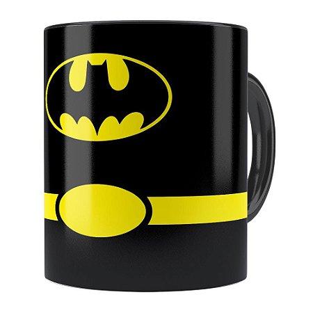 Caneca Batman Minimalista Preta
