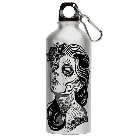 Squeeze Caveira Mexicana Dia da Menina Morta 500ml Aluminio
