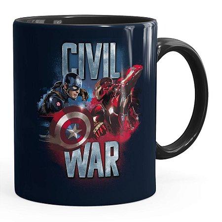 Caneca Capitão América Guerra Civil v02 Preta