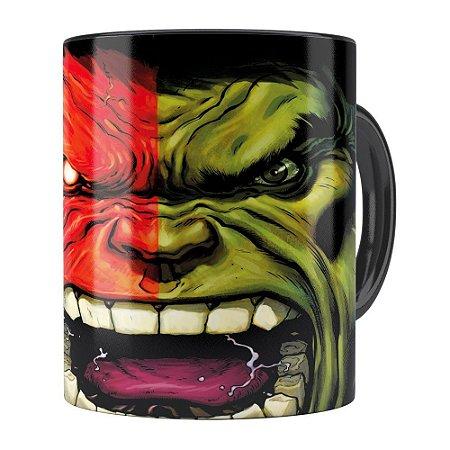 Caneca Hulk v03 Porcelana Preta