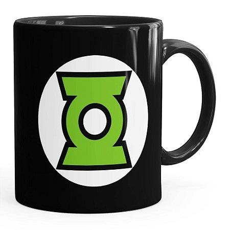 Caneca Lanterna Verde v03 Preta