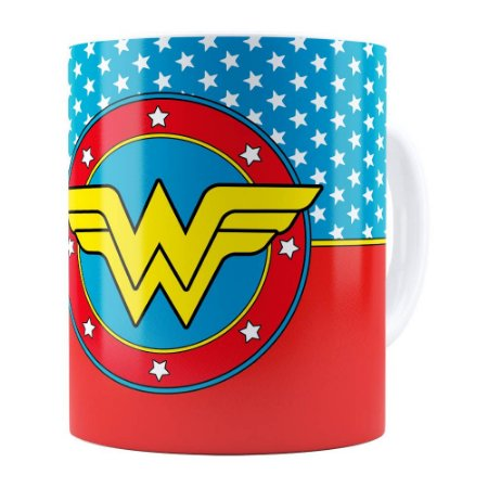 Caneca Mulher Maravilha (Wonder Woman) v01 Branca