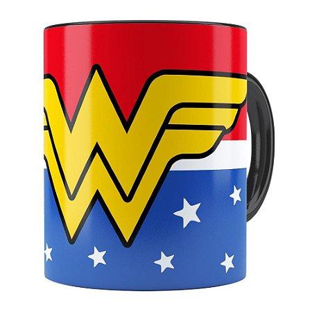 Caneca Mulher Maravilha (Wonder Woman) v02 Preta
