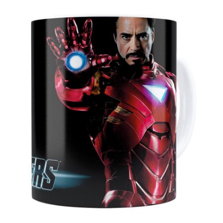 Caneca Os Vingadores (Avengers) Iron Man Branca
