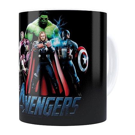 Caneca Os Vingadores (Avengers) v01 Branca