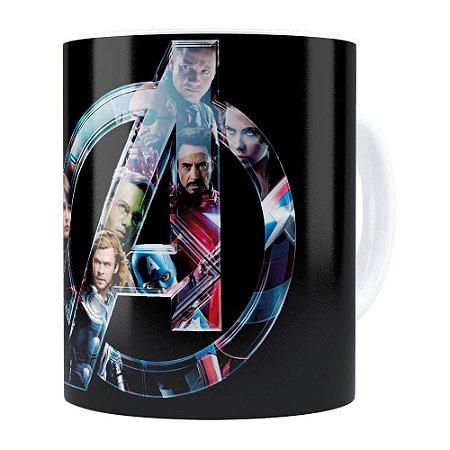 Caneca Os Vingadores (Avengers) v02 Branca