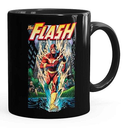 Caneca The Flash Quadrinhos HQ v02 Preta