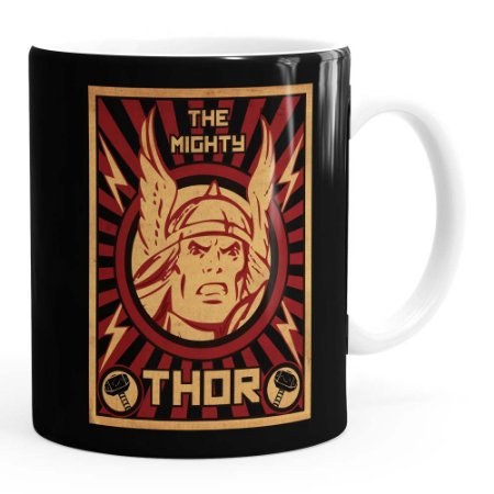 Caneca Thor The Mighty v04 Branca