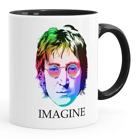 Caneca John Lennon Imagine Cores Preta