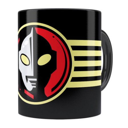 Caneca Ultraman v03 Preta