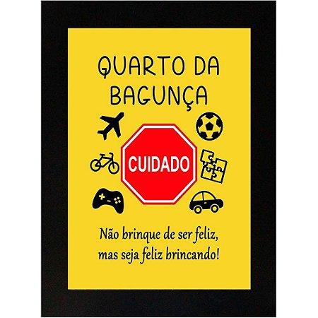 Placa Decorativa Madeira Quarto da Bagunça 8001
