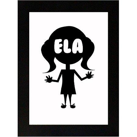 Placa Decorativa Dama Ela 15x21 8008