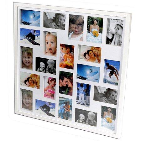 Porta Retrato 70x70 para 23 Fotos Branco PN23