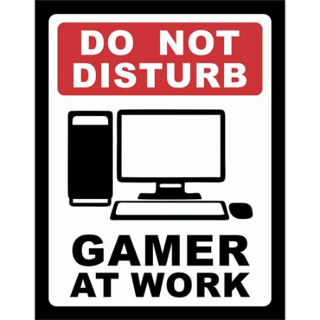 Placa Decorativa Gamer at Work PC 197
