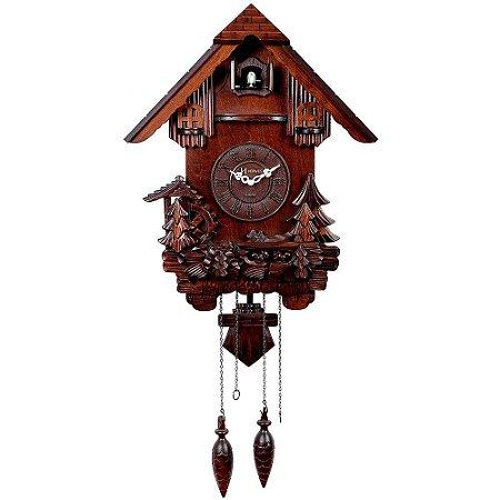 Relógio de Parede Herweg Clássico Cuco com Pêndulo 5334-084