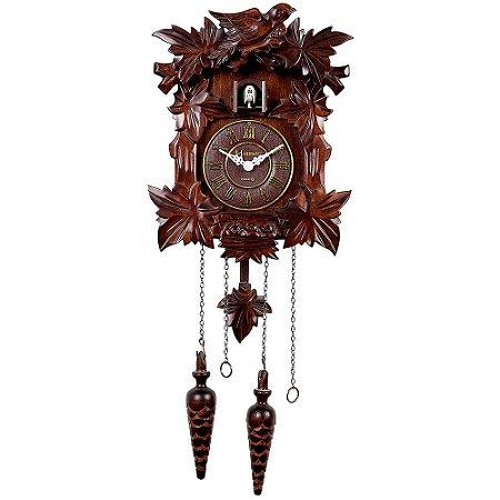 Relógio de Parede Herweg Clássico Cuco com Pêndulo 5300-084