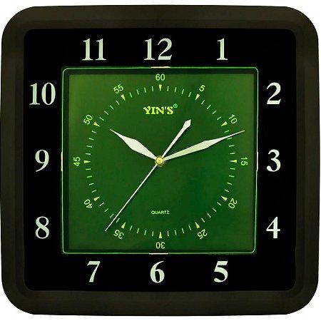 Relógio de Parede Yins YI15128 Fluorescente 35cm