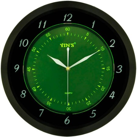 Relógio de Parede Yins YI15127 Fluorescente 35cm