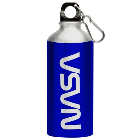 Squeeze Nasa Worm Azul 500ml Aluminio