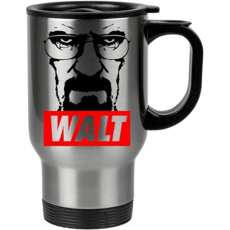 Caneca Térmica Breaking Bad Walt 500ml Inox