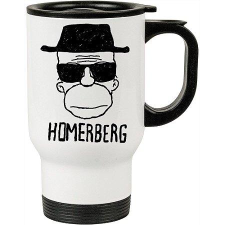 Caneca Térmica Breaking Bad Homerberg 500ml Branca
