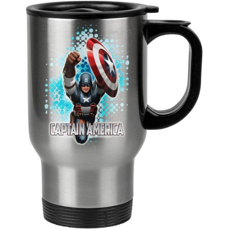 Caneca Térmica Capitão America v01 500ml Inox