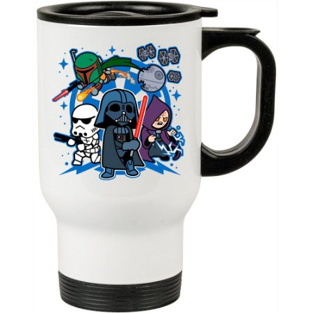 Caneca Térmica Darth Vader and Friends 500ml Branca