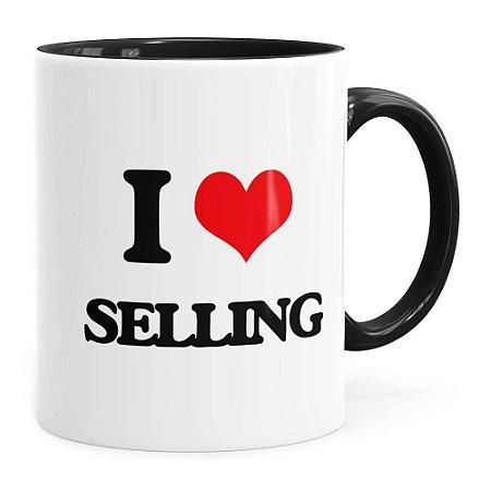 Caneca do Vendedor I Love Selling Preta