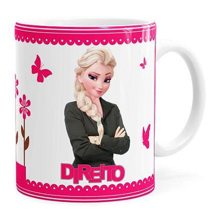 Caneca Profissões Direito Frozen Elsa Branca