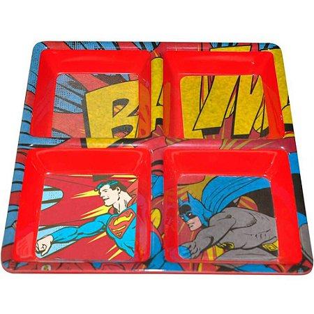 Petisqueira Batman e Superman Bam em Melamina
