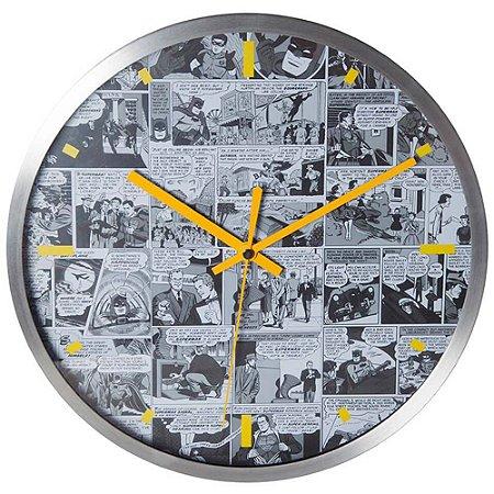Relógio de Parede Dc Comics Quadrinhos Preto e Branco