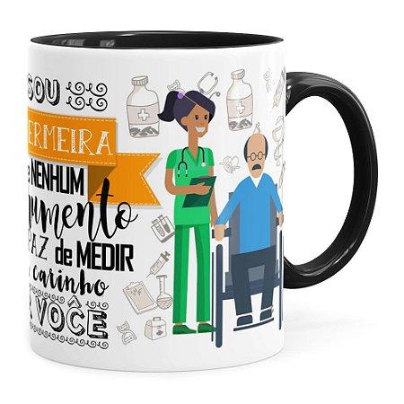 Caneca Personalizada Sou Enfermeira com Nome Preta